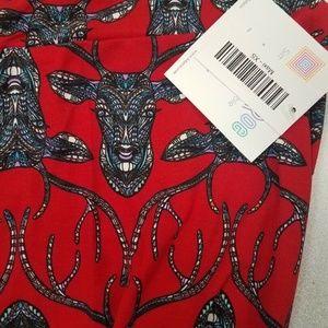 Maxi Skirt Mosaic Deer Skull Antler RARE Unicorn